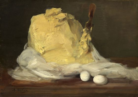 Vollon, Antoine: Mound of Butter. Fine Art Print/Poster. Sizes: A4/A3/A2/A1 (003949)